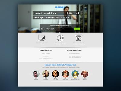 Unused Landing Page homepage branding user interface startup unused mockup landing page ui design