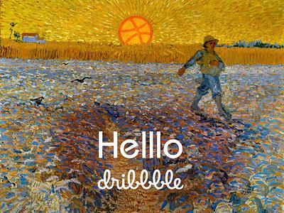 Hello Dribbble van gogh hello dribbble firstshot