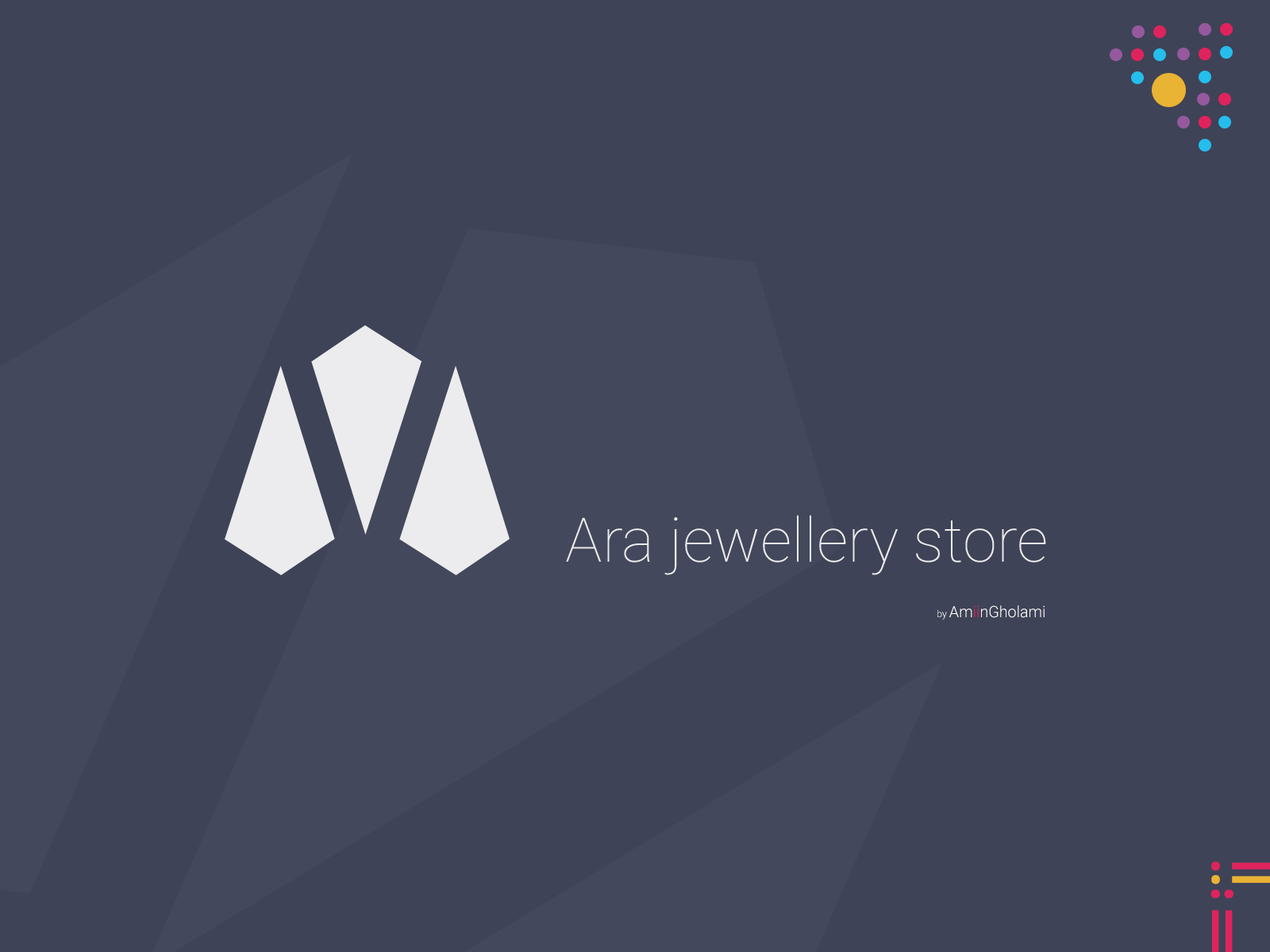 new products e521d 14cb0 Ara jewellery store by Amin Gholami on Dribbble