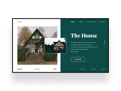 House for sale ui design web home sell house simple design ui minimal modern clean