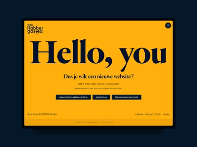 Hello, you - Contact page desktop ui design webdesign contact details buttons creative agency typography heldane yellow contact page contact