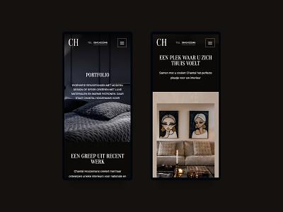 Portfolio Interior Designer webflow figma webdesign mobile design mobile dark ui dark interior designer interior portfolio site portfolio