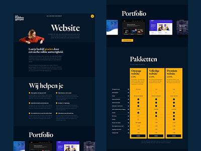 Website Sales Page webflow dark design dark ui flabbergasted text element slider portfolio slider portfolio pricing table pricing page pricing agency web design agency website website sales page