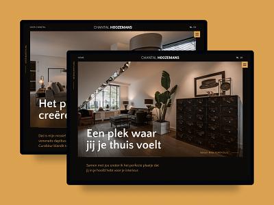 Design for interior designer visual design uidesign webdesign gold dark design header design header hero image interiors interior designer interior