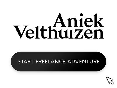 Start Freelance Adventure Dribbble freelancer ux designer personal branding buttons black and white button freelance