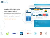 Clean homepage