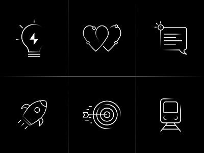 Icons for my portfolio website icon icons design line icons shades white dark netherlands rotterdam freelance designer freelancer freelance illustrator custom icon icons