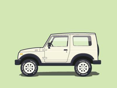Suzuki Samurai suzuki samurai illustration car vector