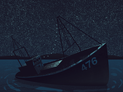 Ship Wreck ocean rust waves stars sky night wreck ship