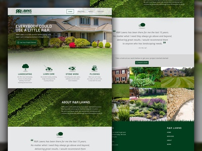 R&R Lawns and Landscaping Site web design lawn care rr lawns branding kingston landscaping graphic design interactive website