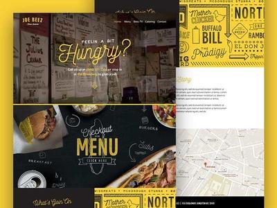 Beez Homepage branding website deli food restaurant subs ui ux interactive yellow black web design