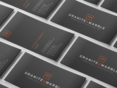 GMFI Business Cards business cards stone marble logo granite florida fabrication counter tops