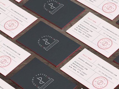 Patent Coffee Cards stamp business cards cafe drink food restaurant nyc to-go patent packaging cups coffee