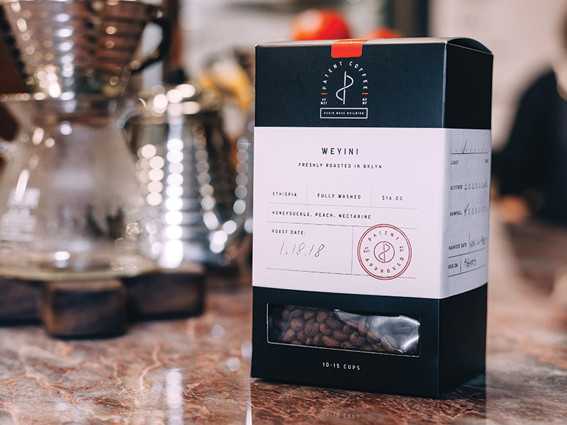 Patent Coffee Boxes stamp coffee shop cafe drink food restaurant nyc to-go patent packaging box coffee