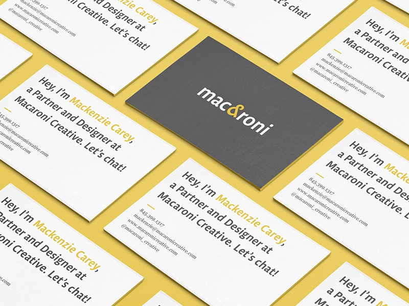 Macaroni cards