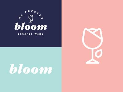 Bloom Identity bloom flower canned wine drink food and beverage alcohol branding wine branding badge branding restaurant wine
