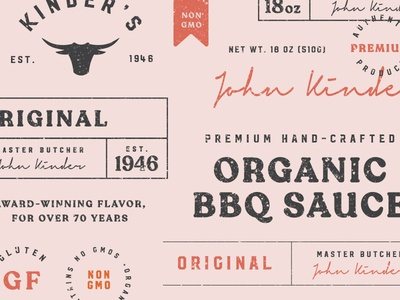 BBQ Packaging Elements food branding sauce bottle food and beverage bbq packaging food packaging packaging bbq logo badge food restaurant