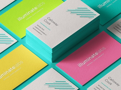 Illuminate Cards health logo identity food stationery branding supplements business cards brand identity