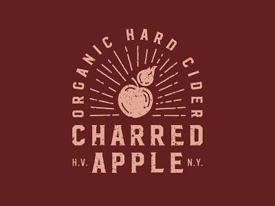 Charred Apple Logo beverage logo beverage branding hudson valley apples organic hard cider branding hard cider logo hard cider cider alcohol branding alcohol logo alcohol