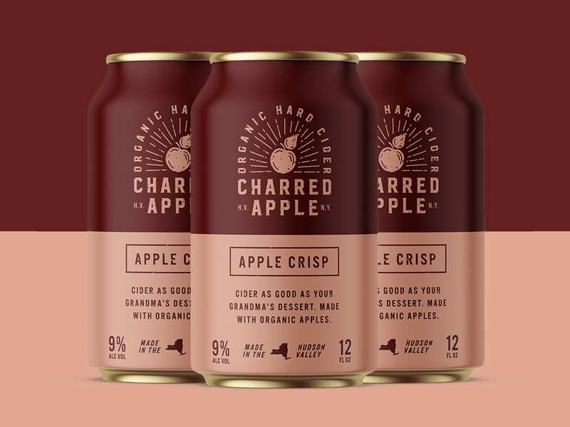 Charred Apple Packaging beverage branding beverage packaging beverage badgedesign badge adobe live adobe new york hudson valley can packaging can design alcohol branding alcohol packaging alcohol cider branding cider packaging cider