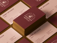 Charred Apple Business Cards