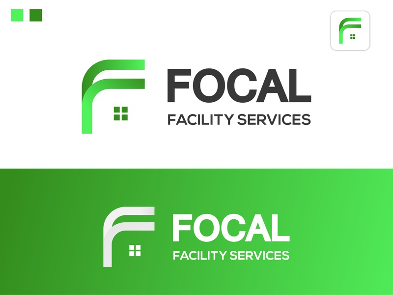 Focal Facility Services abstract logo modern real estate house logo f letter logo realstate icon logo design branding logotype flat design minimal logodesign logo logo mark
