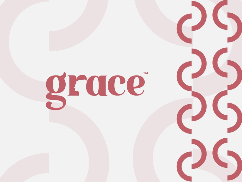 grace cosmetics branding concept logos new trend grace fashion wordmark elegant negative space logo fashion brand flat logo design design branding minimal logodesign logo logo mark