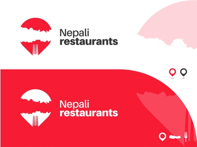 Nepali restaurants logo concept restaurant app logo idea simple logo clean abstract food app e-commerce website restaurant logo map nepali food delivery icon vector logo design design flat branding logodesign minimal logo logo mark