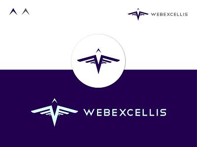 WEBEXCELLIS dribbble best shot website design excellis falcon logo bird creative abstract logo adobe illustrator logotype logo design flat branding design logodesign minimal logo logo mark