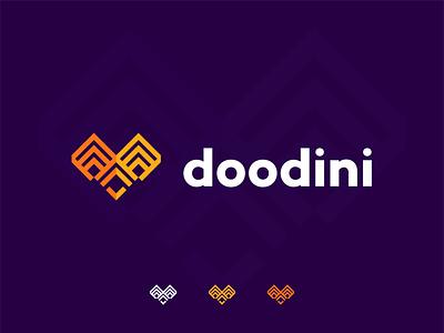 doodini dribbble best shot best logo app icon app logo birdmark geometric owl logo owl logo ideas gradient logo abstract illustration logotype logo design flat design branding logodesign minimal logo logo mark