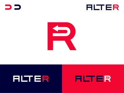 ALTER ; clothing brand wordmark typography simple creative negative space logo arrow logo trademark logo brand r letter logo r logo ideas clothing brand logo logo design flat branding logodesign minimal logo logo mark