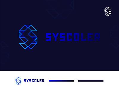 Syscolar Logo concept app logo best logo geometric design technology logo 3d gradient logo logo design abstract illustrator design flat branding logodesign minimal logo logo mark