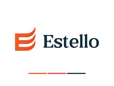 Estello logo concept e logo logo design branding logo design concept creative simple logo modern logo app logo e letter logo 3d logotype abstract branding minimal flat design logo design logodesign logo logo mark