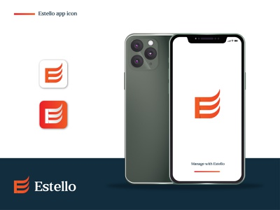 Estello App Icon ui logo trends 2020 dribbble best shot file manager brand designer logo and branding logo design concept logo designer brand identity gradient modern logo app icon icon abstract logo flat design logodesign minimal logo logo mark