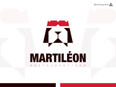 MARTILEON brand designer logo designer abstract logo martini logo lion logo restaurant logo restaurant branding logomark branding logo design logodesign vector illustrator design flat minimal abstract logo logo mark