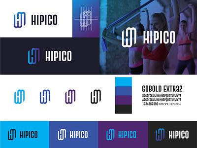 Hipico -  Logo identity Guide apparel logo fitness logo logo design branding best logo logo designer for hire logo designs brand identity logo identity abstract illustrator logo design flat design branding logodesign minimal logo logo mark