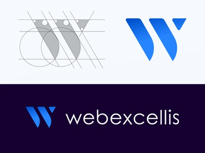 Webexcellis - Final Logo creative logo modern logo design 2020 trend modern logo w letter logo w initial modern web design company abstract illustrator logotype logo design flat design branding logodesign minimal logo logo mark
