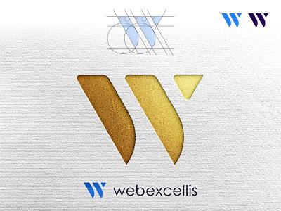 Webexcellis logo mockup w letter w w logo w letter logo illustrator logotype logo design flat design branding logodesign minimal logo logo mark