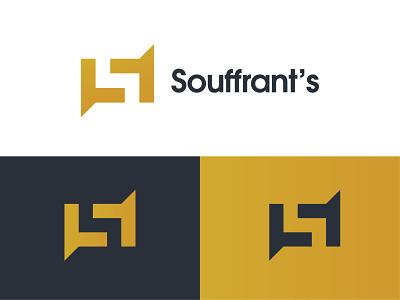 Souffrant's logo concept logo design design flat branding negative space logo simple creative abstract s modern logo s letter logo minimal logo logo mark