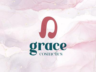 Grace cosmetic branding beauty product cosmetic logo women fashion cosmetic abstract logo design logotype branding flat logodesign logo minimal logo mark design