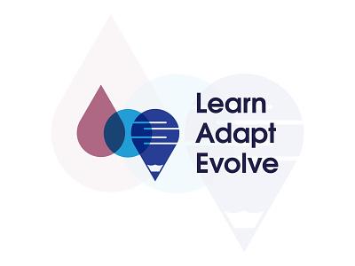 Learn Adapt Evolve Logo Concept brand concept education logo creative logo education website logotype abstract logo design flat design branding logodesign minimal logo logo mark