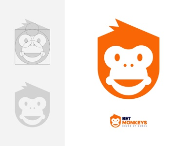 BetMonkeys brand icon animal logo adobe illustrator logo design animal symbol icon brand mark logomark abstract graphic design golden ratio monkey logo betting site monkey design branding logodesign minimal logo logo mark