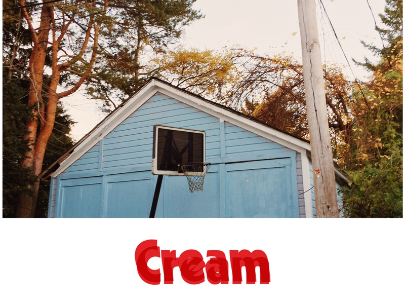 American Cream typography photo screenprint print poster