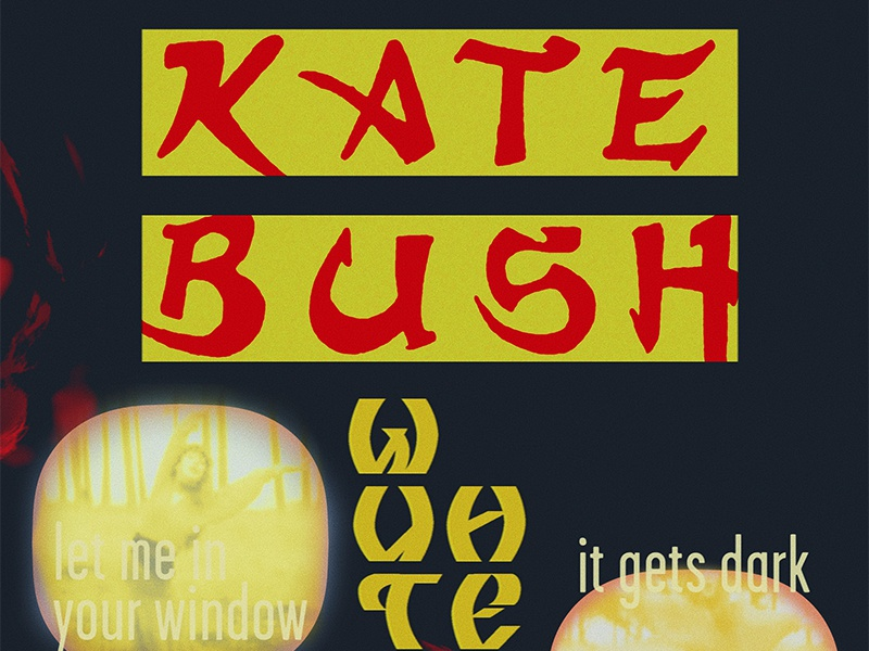 Kate Bush — Wuthering Heights design typography