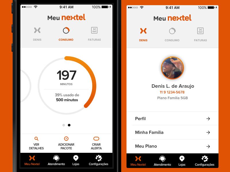 Nextel App design product ui ux