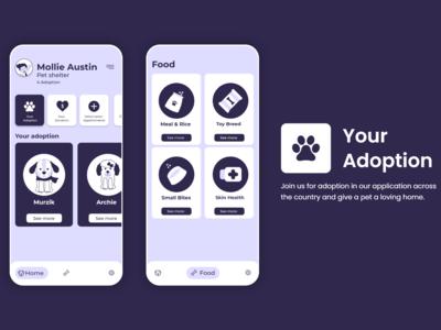 Social Pets App UI