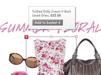 Interactive Lookbook for fashion site