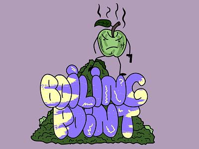 Boilin'point bubbles gun green boiling boiled apple logo branding design vector illustration vector art vector illustration