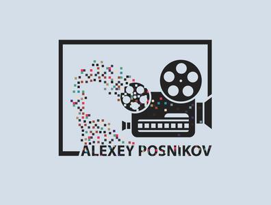 logo branding design vector illustration vector art vector illustration naming pixels pixel logodesign logotype logo video camera cameraman