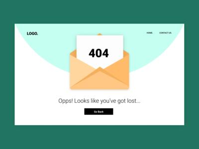 404 Error page - Desktop UI